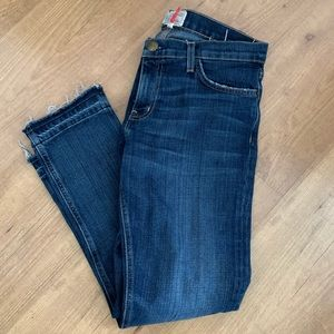 Current Elliot cropped straight leg jeans